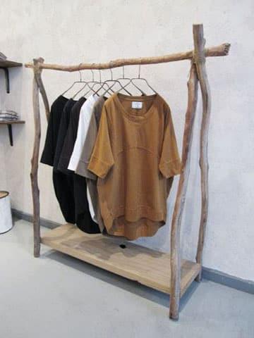 como hacer colgadores de ropa rustico