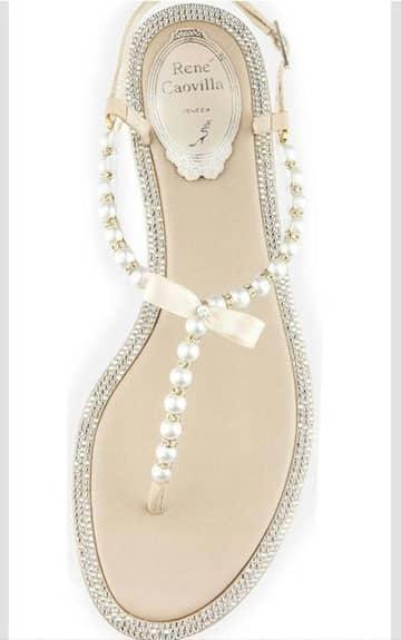 como hacer sandalias con perlas paso a paso