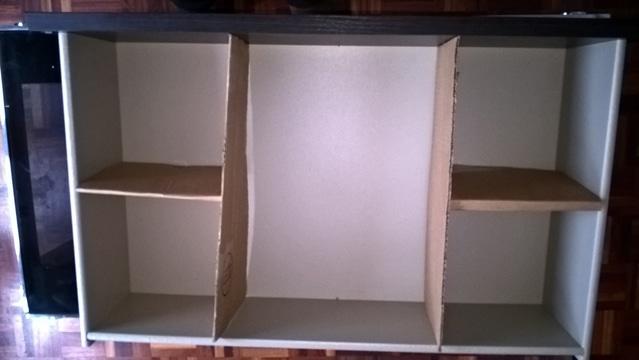 como hacer un armario de carton grande