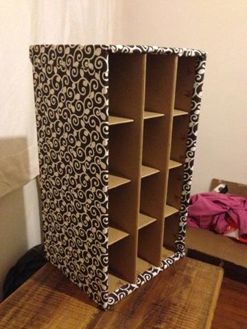 como hacer un armario de carton paso a paso
