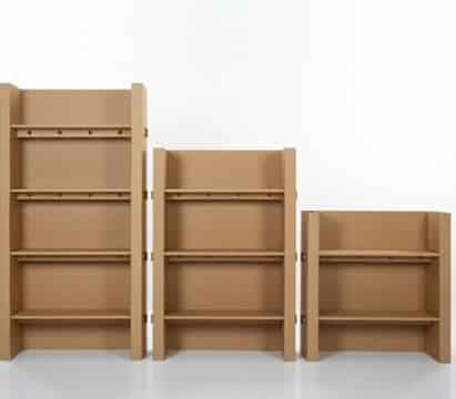 como hacer un librero de carton reciclaje
