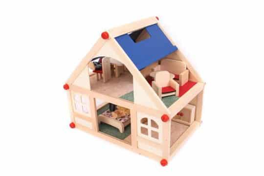 como hacer una casa de muñecas de madera facil