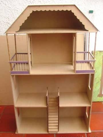 como hacer una casa de muñecas de madera ideas