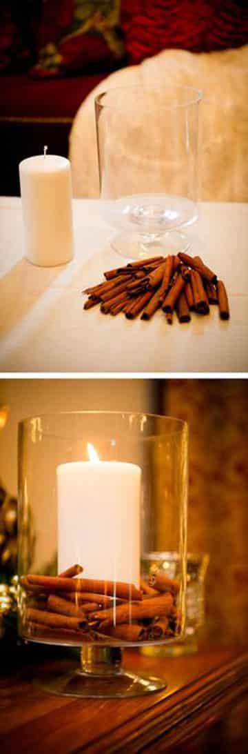 como hacer una vela aromatica canela