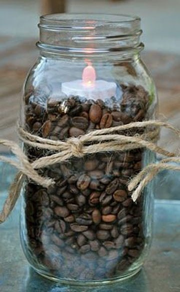 como hacer una vela aromatica de cafe