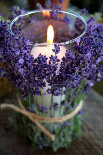 como hacer una vela aromatica lavanda