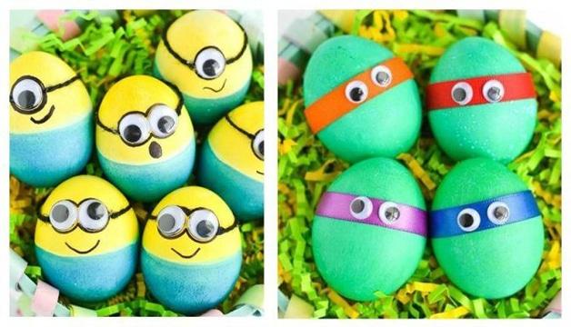 huevos decorados faciles como personajes y animales