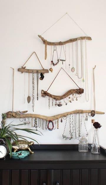 ideas para colgar collares habitacion