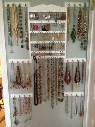 ideas para colgar collares y aretes