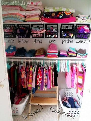 ideas para organizar el closet con cajas