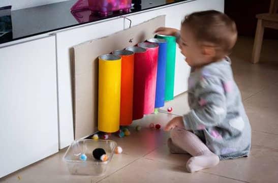 juguetes caseros para bebes de 8 meses