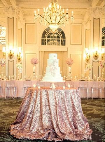 Elegantes manteles de mesa para boda de noche vintage - Manteles mesas grandes ...