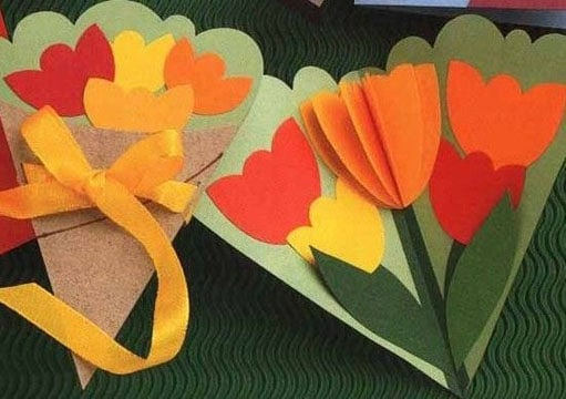 manualidades para niños de primaria faciles flores