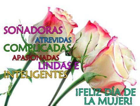 mensajes bonitos para el dia de la mujer con flores