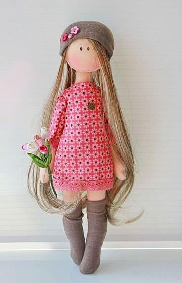 muñecas rusas de trapo moderna