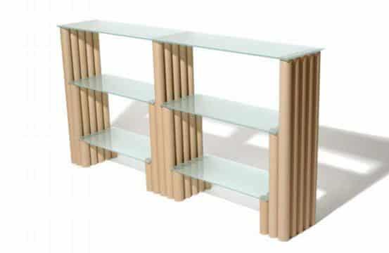 muebles con tubos de carton delgado