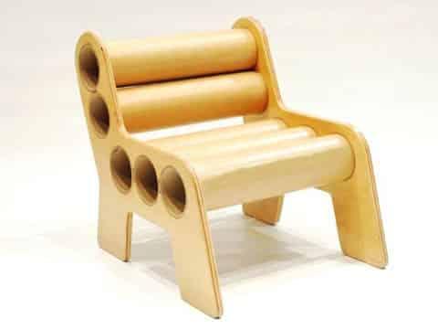 muebles con tubos de carton grueso