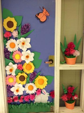 puertas decoradas de primavera casa