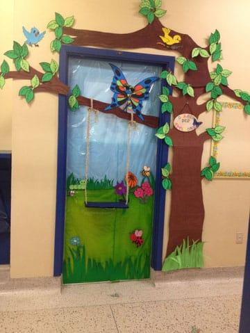 puertas decoradas de primavera primaria