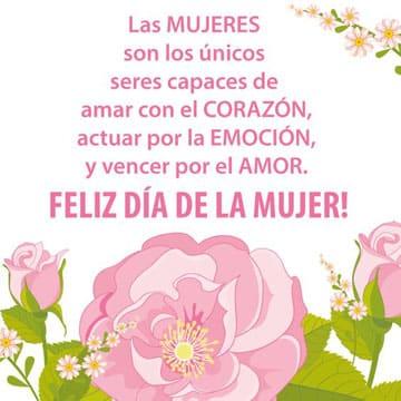 tarjetas y postales del dia de la mujer con flores