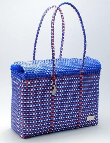 bolsas artesanales de plastico tejida