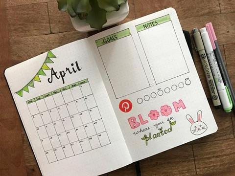 calendarios hechos a mano cuaderno