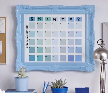 calendarios hechos a mano de pared