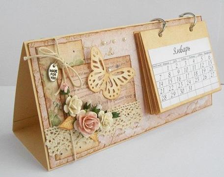 calendarios hechos a mano espiral