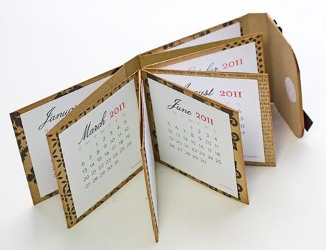 calendarios hechos a mano tipo agenda