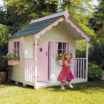 casitas para niña de madera en exterior