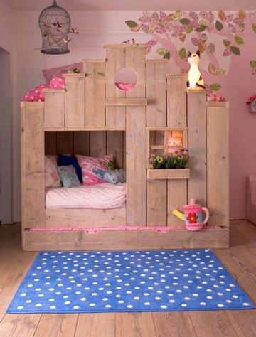 casitas para niña de madera pequeña