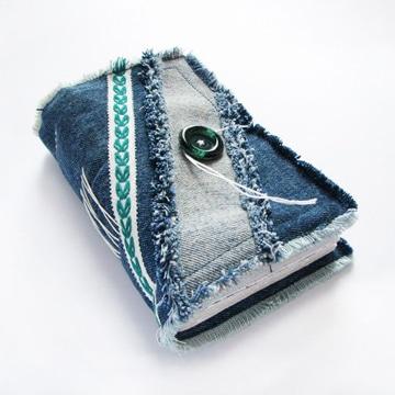 como adornar un cuaderno con jean