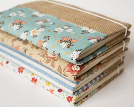 como adornar un cuaderno con tela
