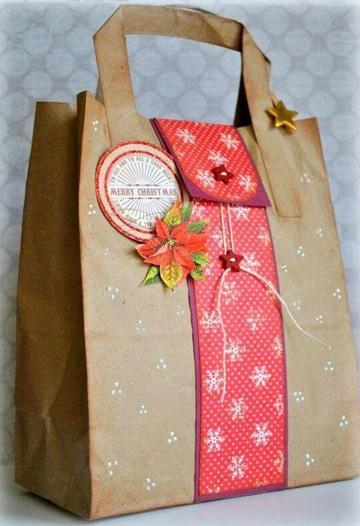 como decorar bolsas de regalo navidad