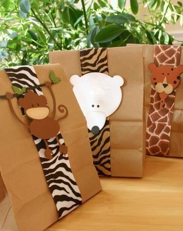 como decorar bolsas de regalo para niños