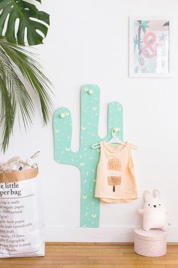 como hacer percheros de pared para niños