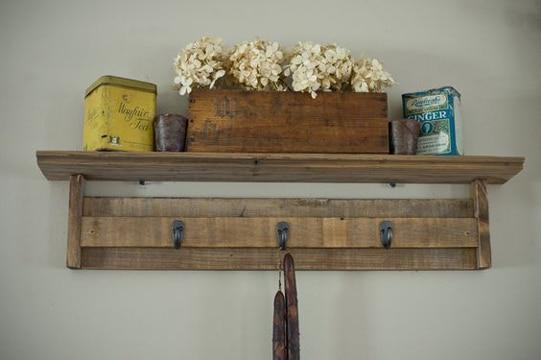 Como hacer percheros de pared sencillos y muy originales - Percheros de pared originales ...