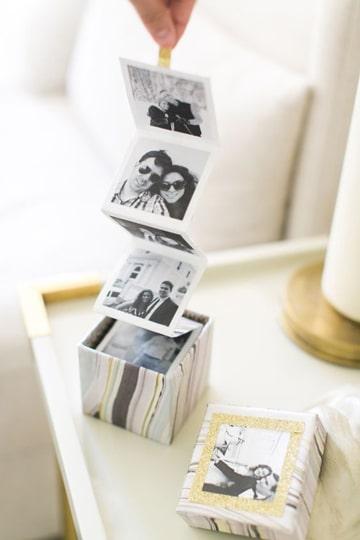 como hacer un album de fotos en caja