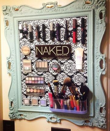 como hacer un organizador de maquillaje vintage