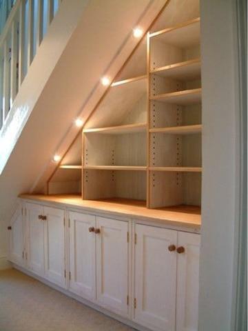 como hacer una estanteria de madera en escalera