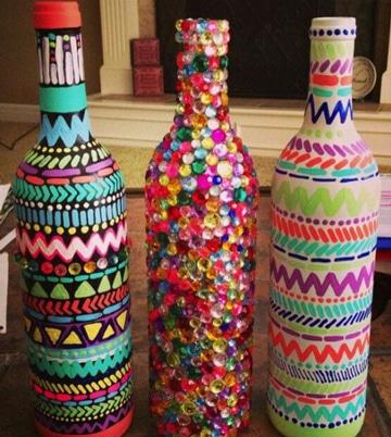 decoracion con cosas recicladas botellas