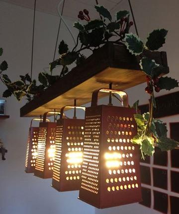 decoracion con cosas recicladas lamparas