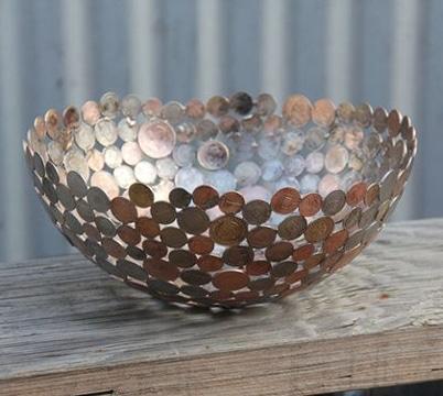 decoracion con cosas recicladas monedas