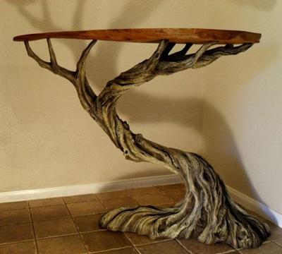 decoracion con cosas recicladas tronco