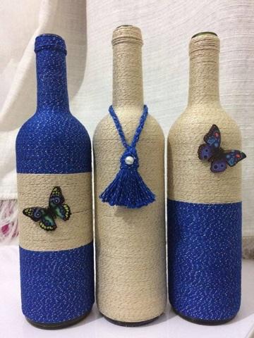 decoracion en botellas de vidrio para casa