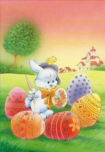 dibujos de huevos de pascua caricatura