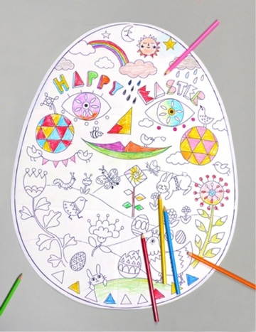 dibujos de huevos de pascua para niños