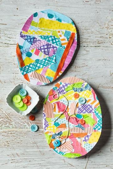huevos de colores para niños tarjeta
