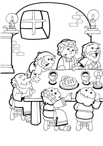 imagenes de semana santa para niños para pintar