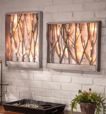 manualidades con madera reciclada para cuadros
